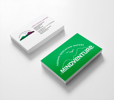 Business Cards for Mindventure by Heartwaves Design