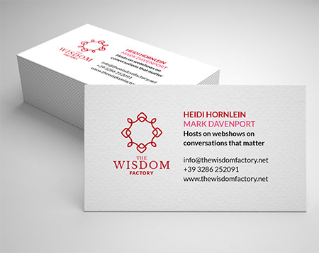 Business Cards for Wisdom Factory by Heartwaves Design